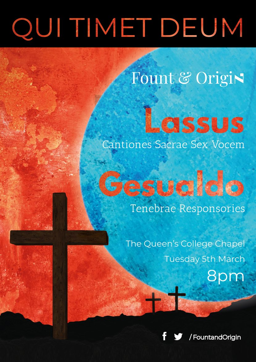 Qui Timet Deum, latest concert from Fount and Origin, a new early music vocal ensemble in Oxford